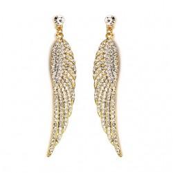Full crystal wing - long earrings