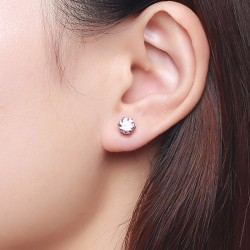 Shiny Crystal Stud Small Earrings