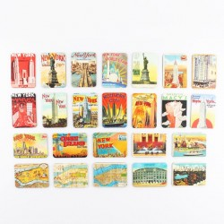 New York Theme Fridge Magnets 24 pcs