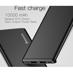 iPhone Xiaomi Mi Ultra Slim Power Bank External Battery Charger 10000 mAh