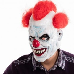 Angry clown full face latex mask - Halloween - party - carnaval
