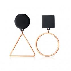 Asymmetrical geometric stud earrings