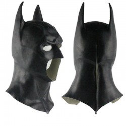 Halloween Full Face Latex Batman Mask
