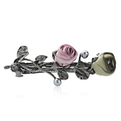Roses crystal hair clip