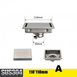 Square bathroom tile floor waste shower drain stainless steel
