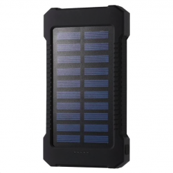 30000mAh solar power bank waterproof backup battery charger dual USB