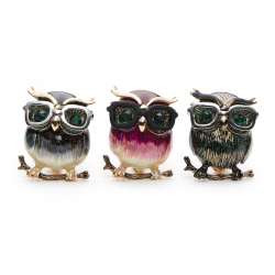 Owl with glasses - brooch