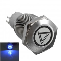 16mm LED illuminated self-locking waterproof push button switch stainless steel