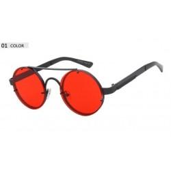 Round vintage steampunk sunglasses unisex