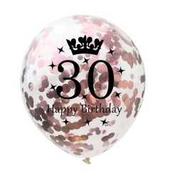 Birthday & anniversary latex balloons 12 Inch 5 pcs