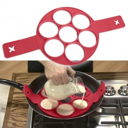 Silicone non stick mould shaper for frying eggs & pancakes