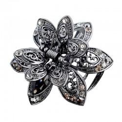 Crystal flower - hair clip
