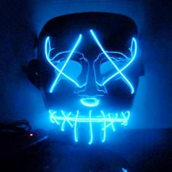 LED light up - halloween face mask