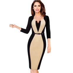 Elegant - slim - women's dress with belt
