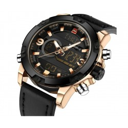 NAVIFORCE - Analog & Digital Watch with leather band