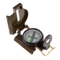 Portable Folding Army Compass With Green Lens