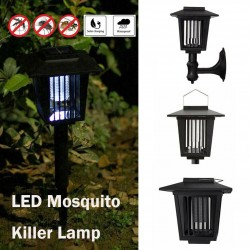 Solar powered LED lamp - mosquito killer - garden light