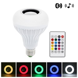 Smart RGB LED lamp with wireless Bluetooth speaker - remote control