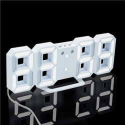 Modern 3D LED digital wall clock with alarm function