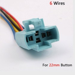 6 wires cable - socket for switch memontary 22mm button