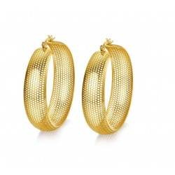 Hollow gold hoops - stainless steel earrings