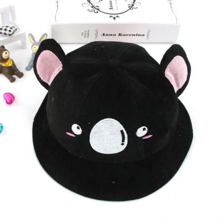 Baby hat with koala face