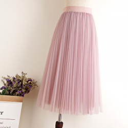 Fashion midi pleated skirt