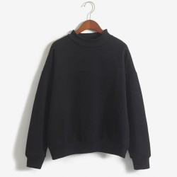 Warm velvet sweatshirt with long sleeve