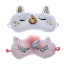 Sleeping mask with unicorn