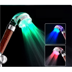 LED shower head with colorful temperature control