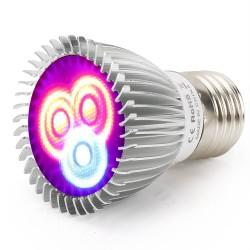 6W E27 E14 GU10 LED grow light - hydroponic