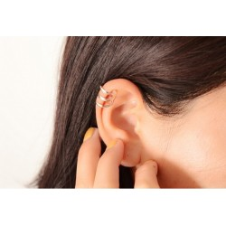 Gold & silver ear clip - 1 piece