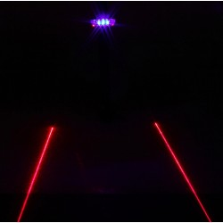 LED - Laser Beam Bike Light