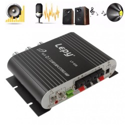 Car amplifier - Hi-Fi 2.1 stereo - super bass - subwoofer option - AUX in
