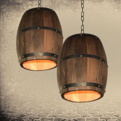Vintage barrel - hanging lamp