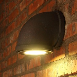 Iron pipe - wall mounted lamp