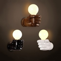 Resin fist - retro wall lamp