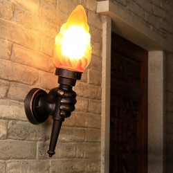 Retro hand with torch - wall lamp