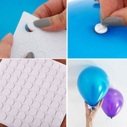 Balloons attachment glue dot - double-sided stickers 100 pieces
