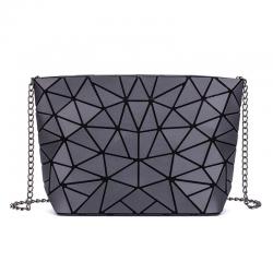 Luminous geometric bag with chain strap