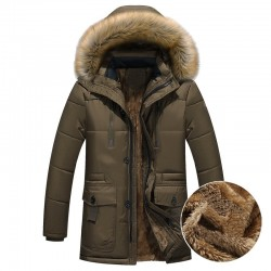 Thick warm hooded winter jacket