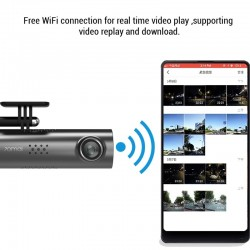 70Mai 1S Dash Cam - 1080P HD car DVR camera Wifi - voice control - night vision - G-sensor - video recorder