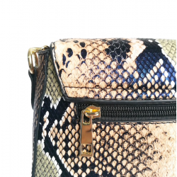 Snake skin pattern - small shoulder bag