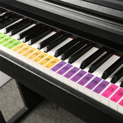 Piano keyboard sound name stickers - music labels