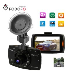 Podofo A2 car DVR camera - G30 full HD 1080P 140 degree - video recording - night vision - G-sensor
