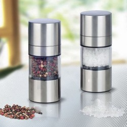 Stainless steel pepper mill - salt mill grinder