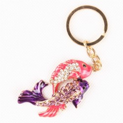 Crystal couple fish - keychain