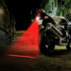 Motorcycle laser fog lamp - tail light