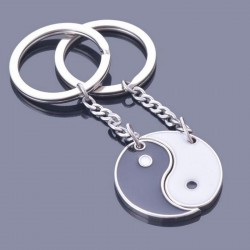 Black & white Yin Yang - keychain