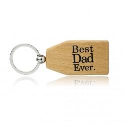 Best Dad Ever & Best Nana Ever - wooden keychain